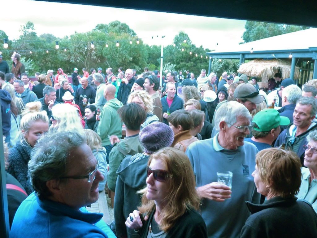 A packed pub for the festival
