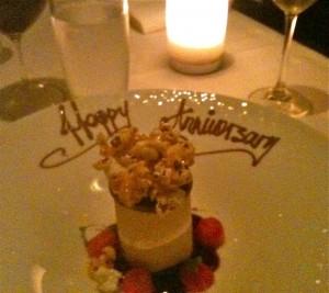 Ezard's wedding anniversary dessert