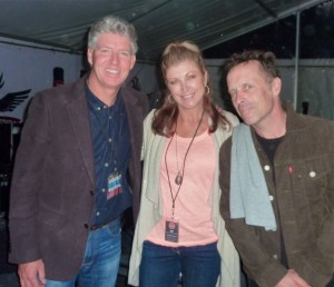 Festival director Marty Maher, me and Mark Seymour