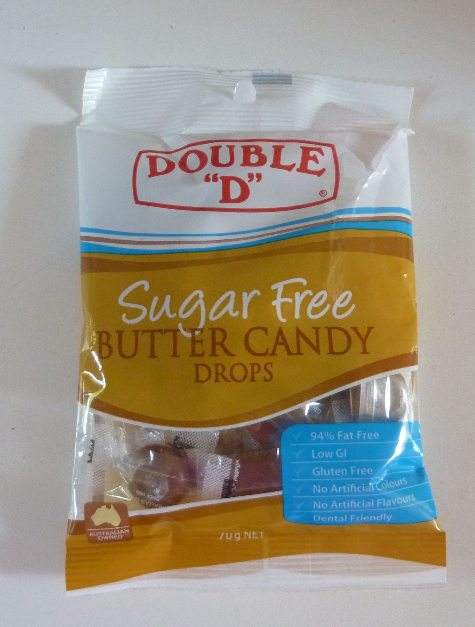 Sugar free butter candy drops