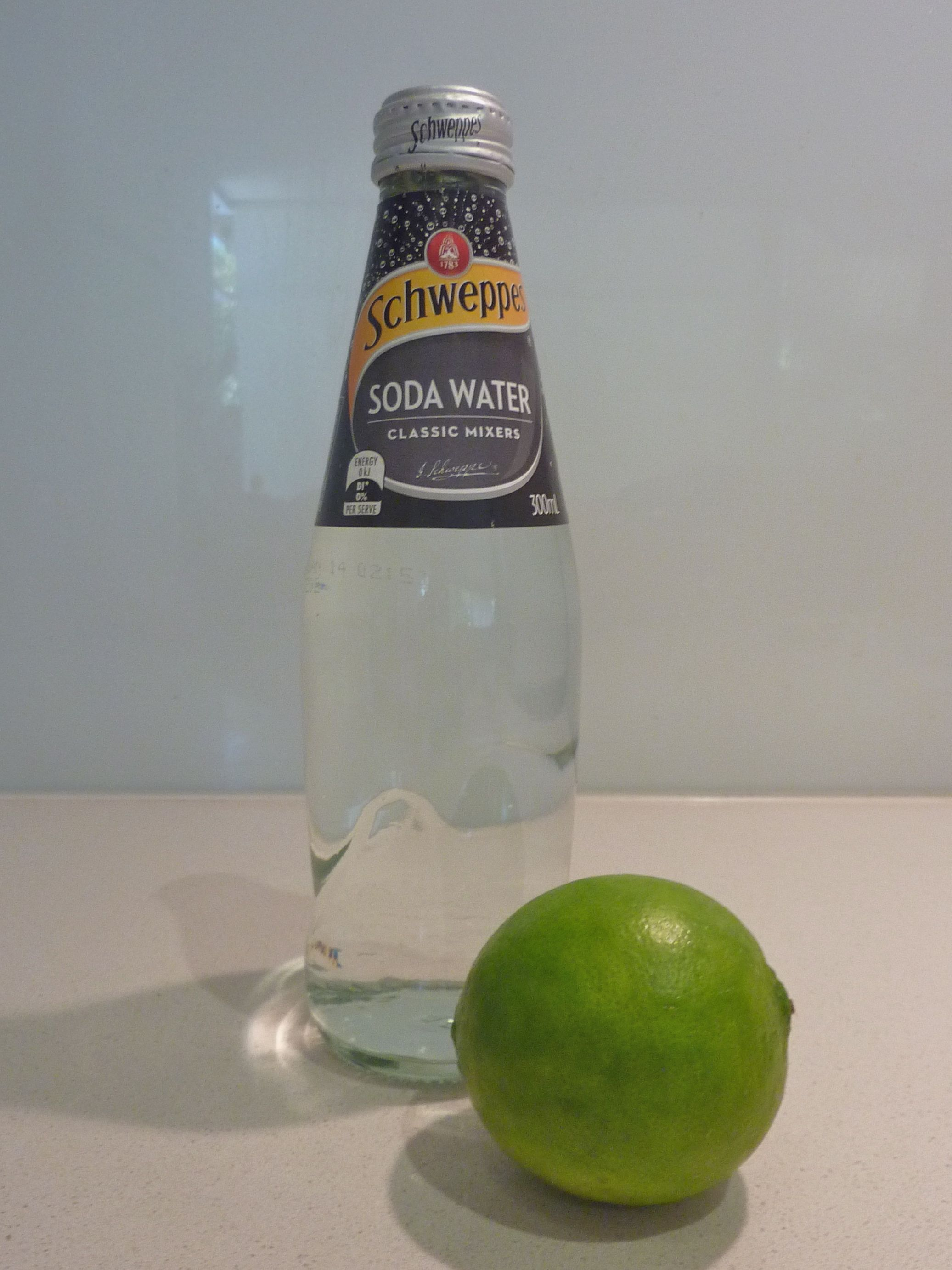Summer drink of choice - fresh lime and soda