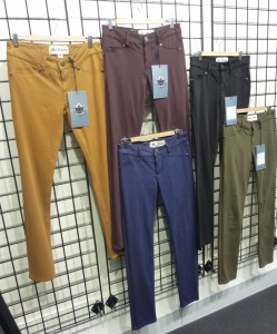 Winter colour range in London Jeans new four-way stretch fabric