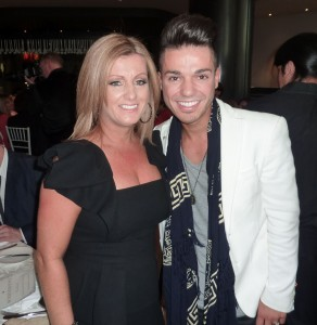 Anthony Callea and his mum, Santina