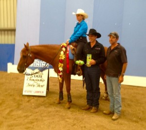 Linda winning Reserve Champion at Werribee