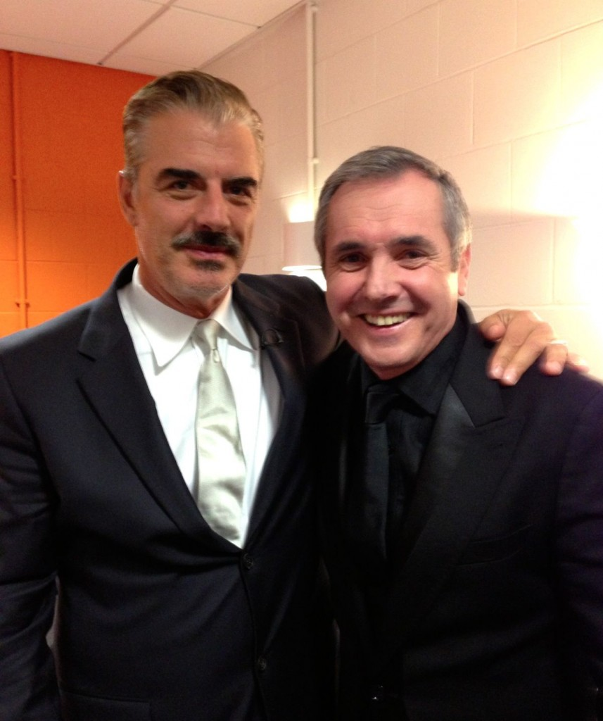Mr Big (aka Chris Noth) and Fletch at the British Soap Awards