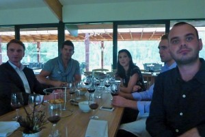 Alex, Dean, Juliana, Jack and Sam all listened attentively to the wine rundown