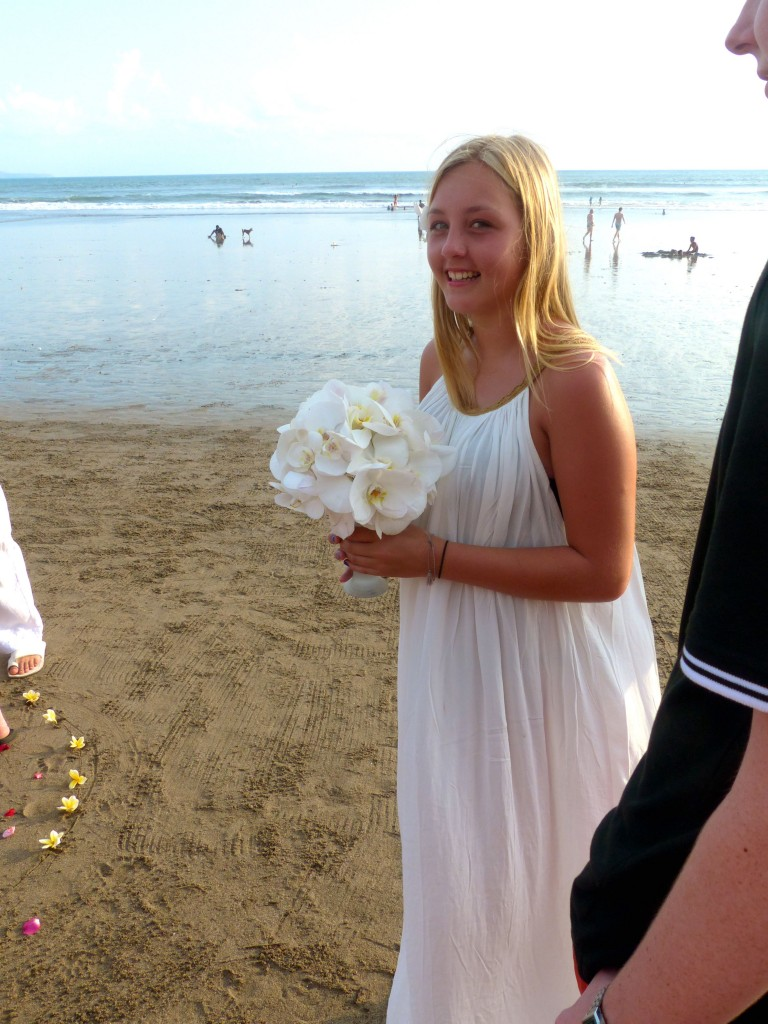Jill's daughter, Charlie, was the perfect bridesmaid