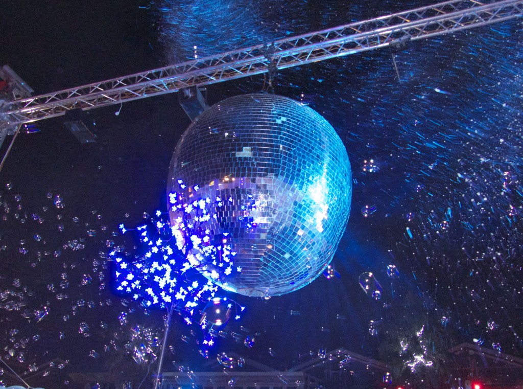 We danced under a giant disco ball and a flurry of real snow...