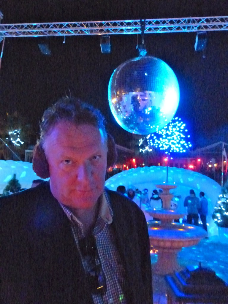 Wilbur Wilde was seriously impressed by the giant disco ball...