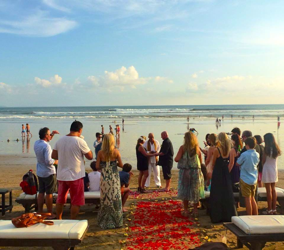 A beautiful beach wedding