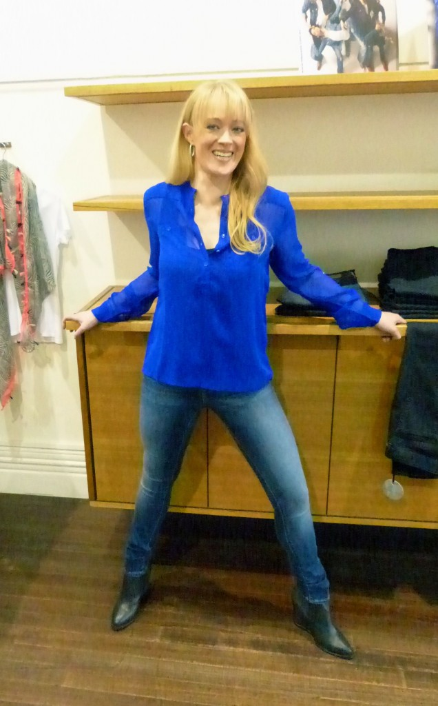 Ilse Jacobsen royal blue top $99 with Sadie basic tank $19