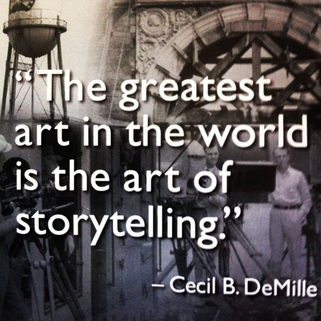 Cecil B DeMille's famous quote