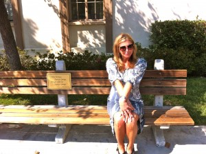 Sitting on Forrest Gump's park bench