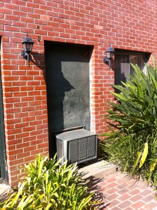 The door Lucille Ball had concreted...