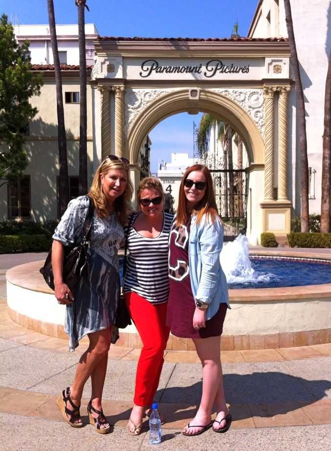 With Kate McGrath and Anna Byrne at Paramount Studios