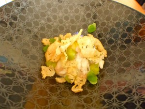 Hand-picked spanner crab with avocado, lemonade fruit and wood sorrel