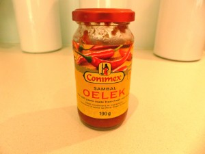 Always keep some Sambal Oelek in the fridge for when you don't have fresh chilli on hand