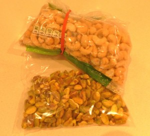 Cashews and pistachios
