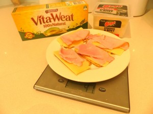 Keeping it simple - ham and cheese on Vita-Wheats
