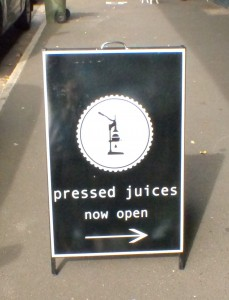 Pressed Juices at 25 Carpenter Street, Brighton