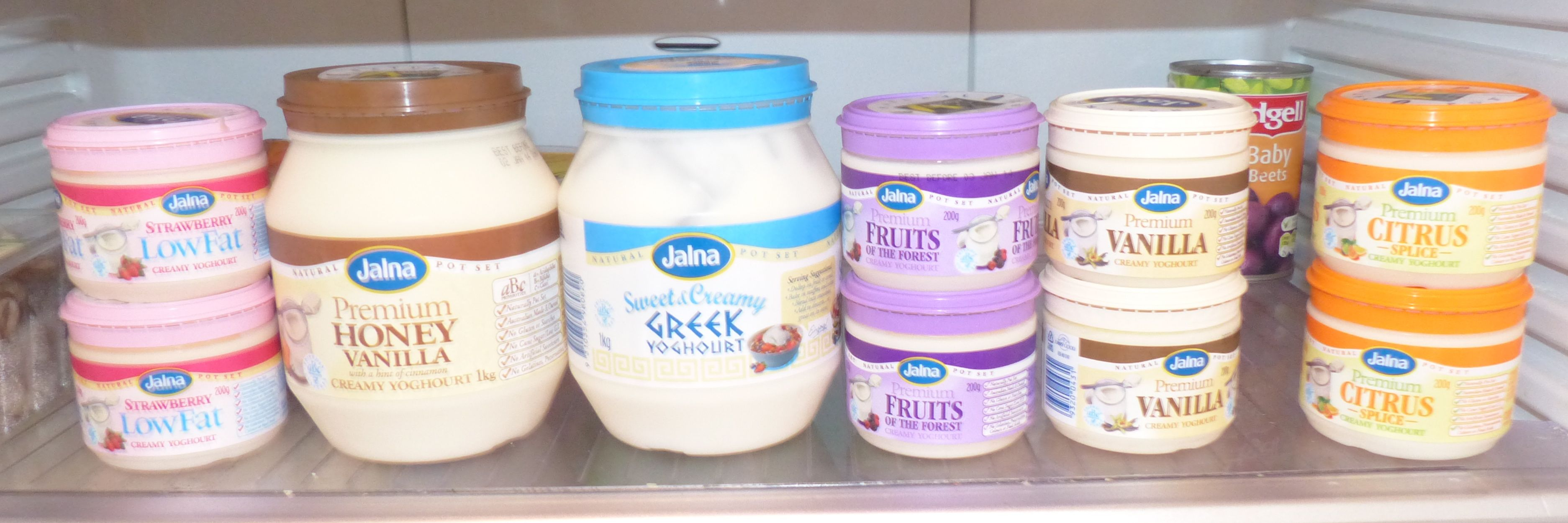A fridge full of Jalna