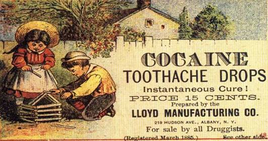 Cocaine toothache drops?
