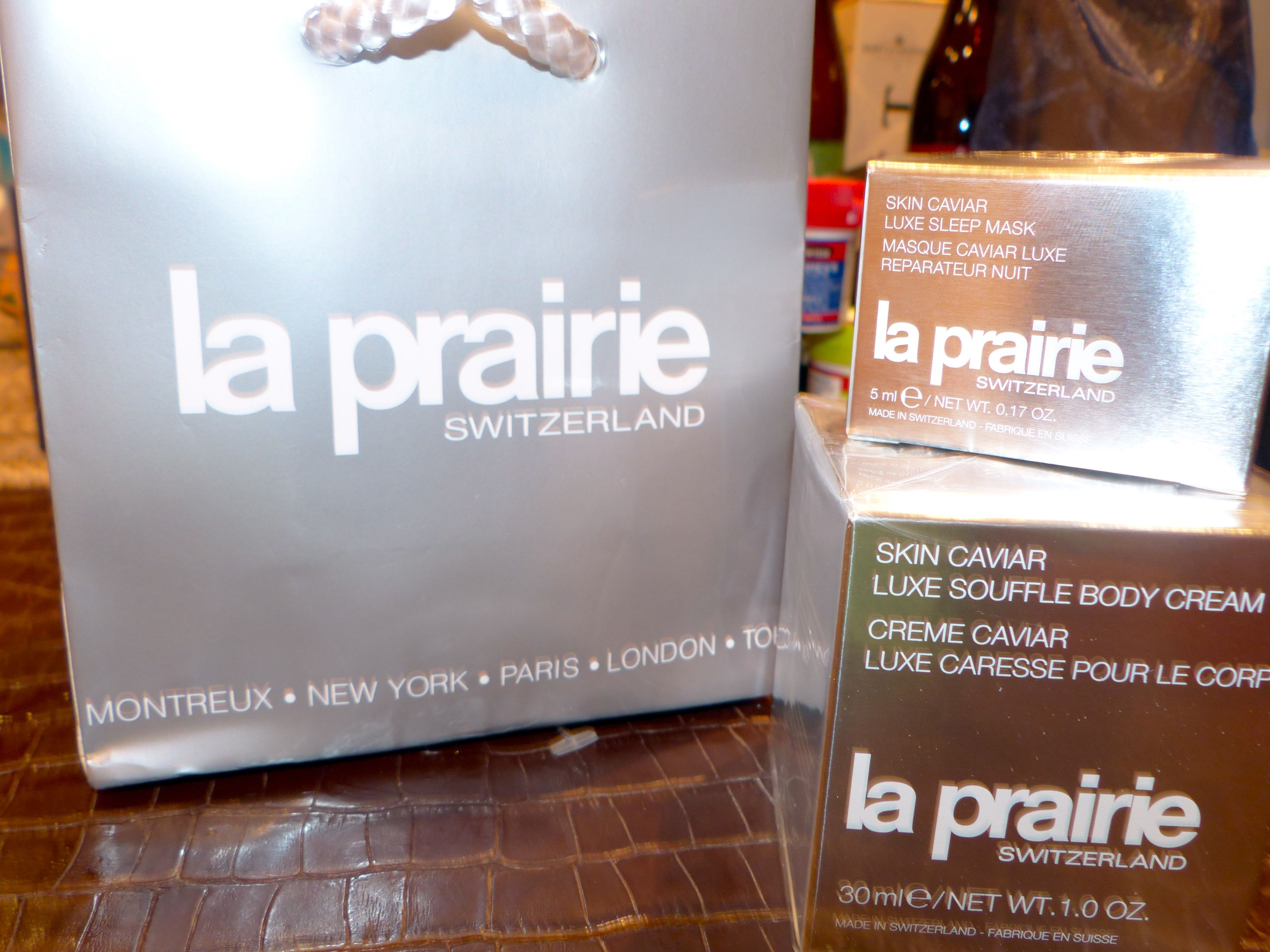 Luxury skincare from La Prairie