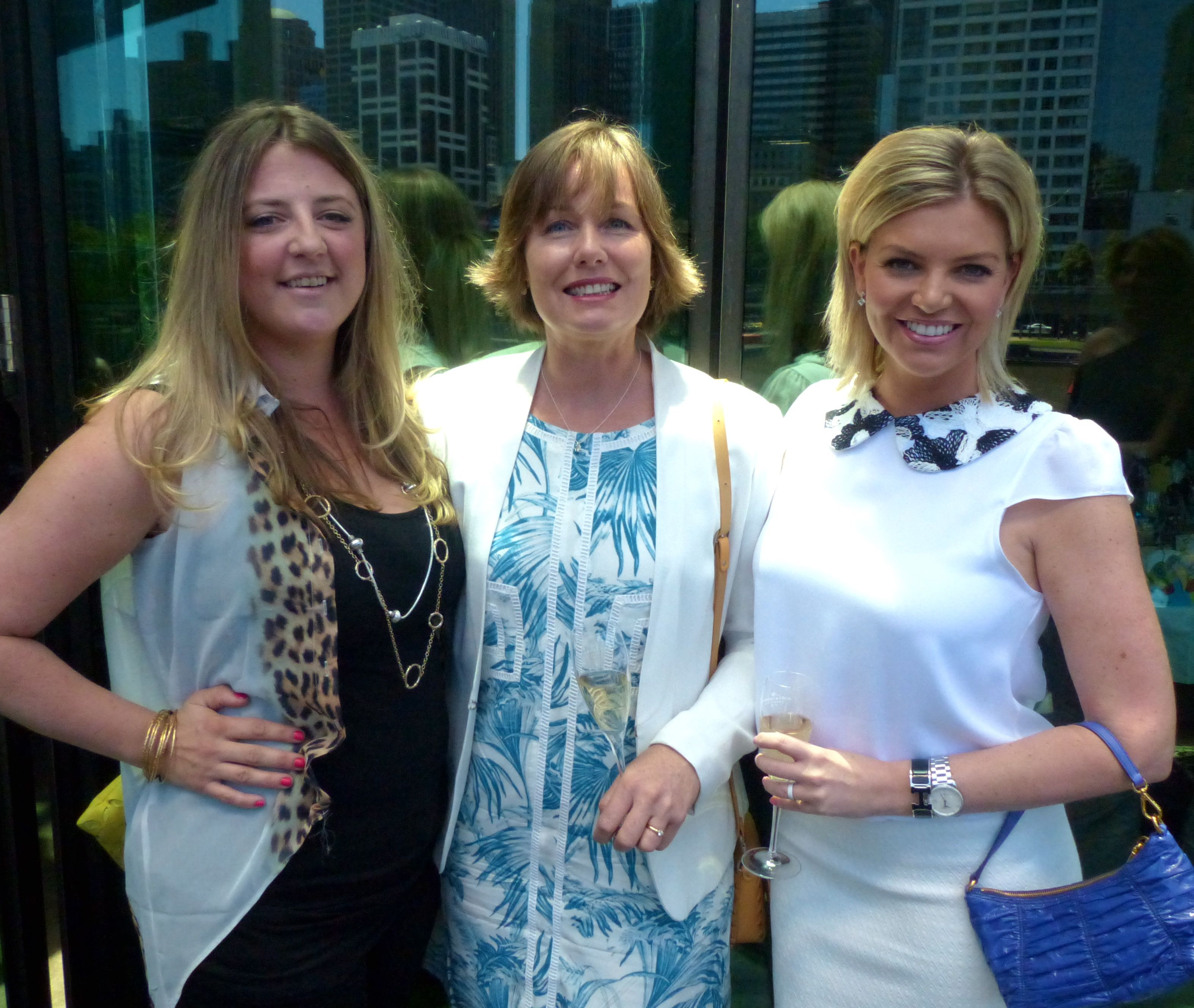 Media gals Alice Coster, Wendy Tuohy and Rebecca Maddern