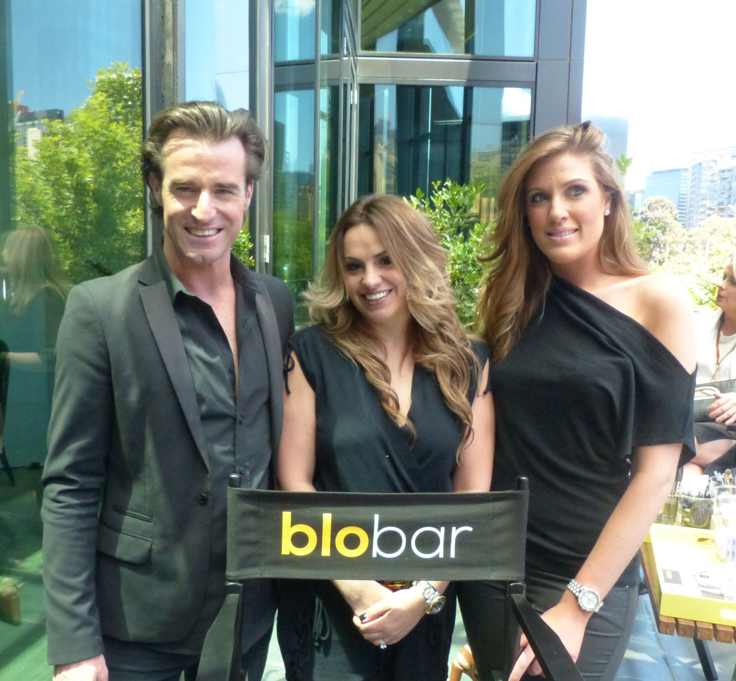 The Dream Team from the Blo Bar were on hand to style lashes and hair for those who'd rushed to make it on time