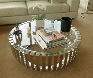 A coffee table with class