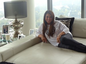 Toni Giannarelli in her new apartment