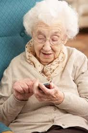 Granny texting