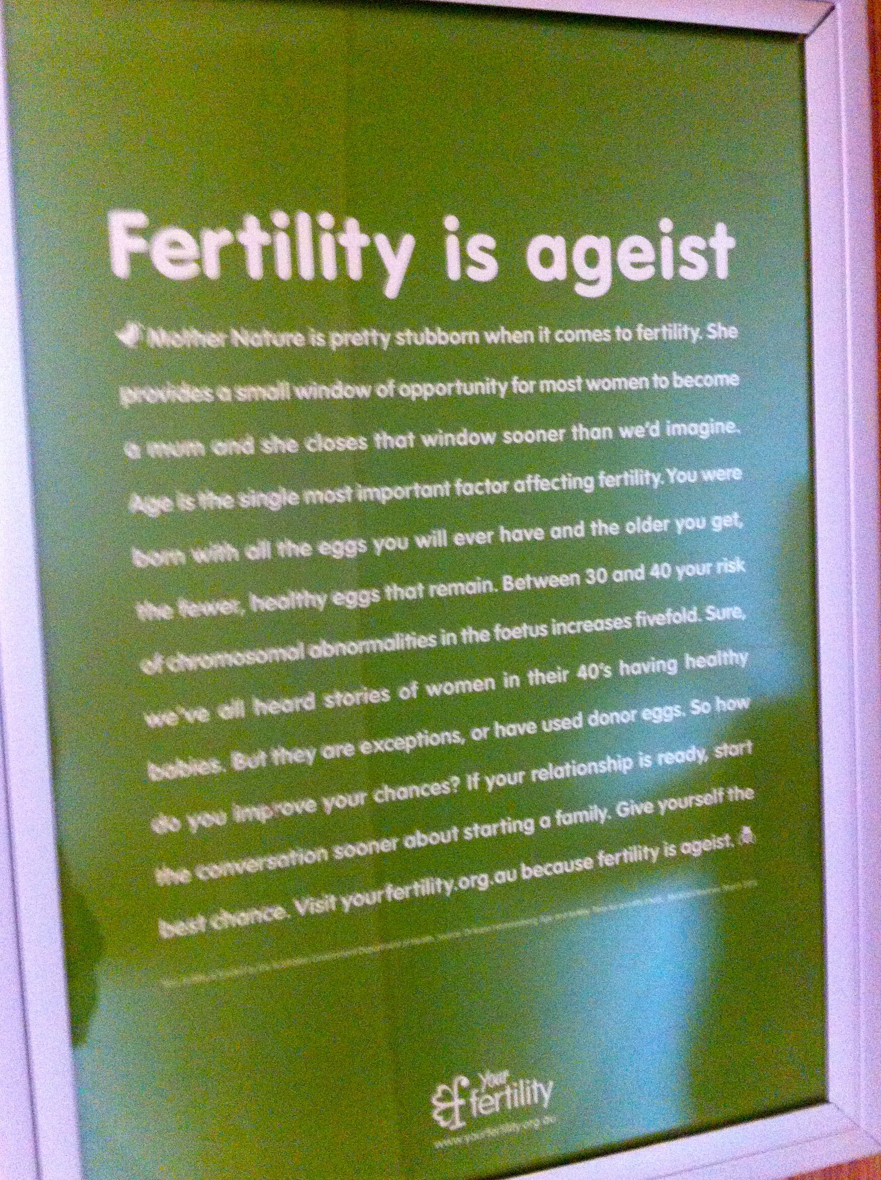 Fertility is Ageist