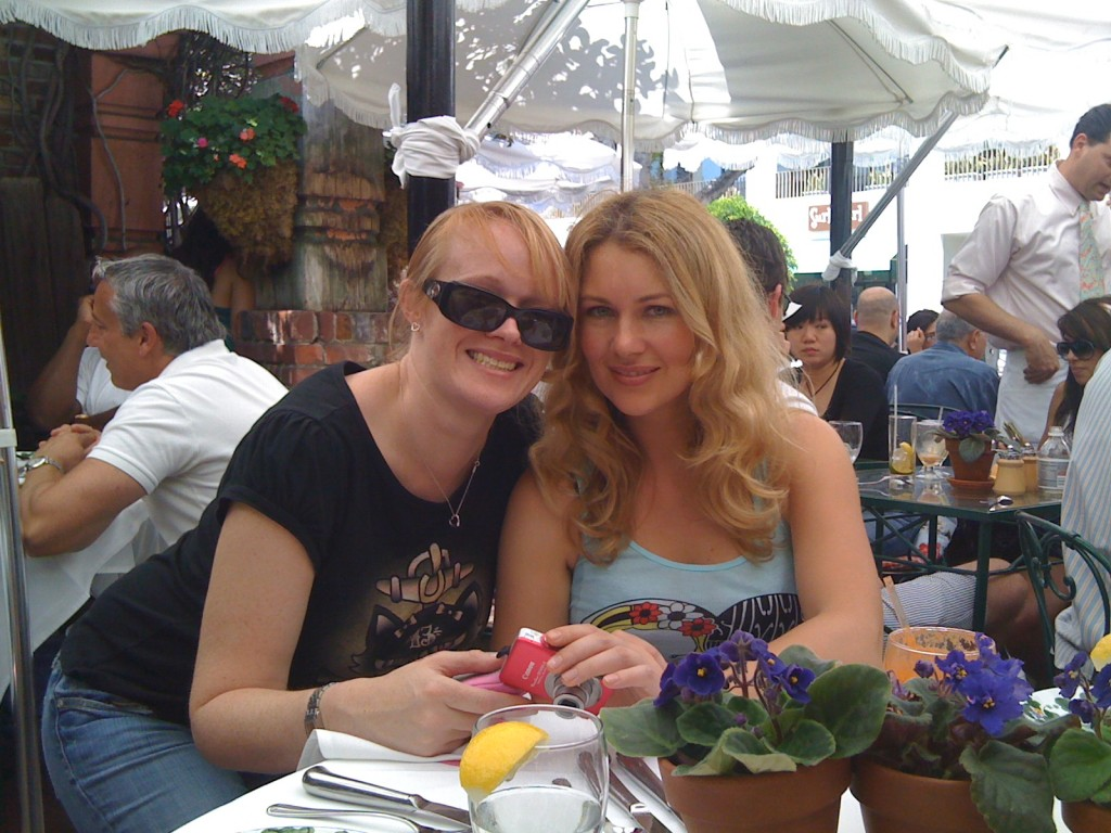 Lunch at The Ivy with Krista in LA