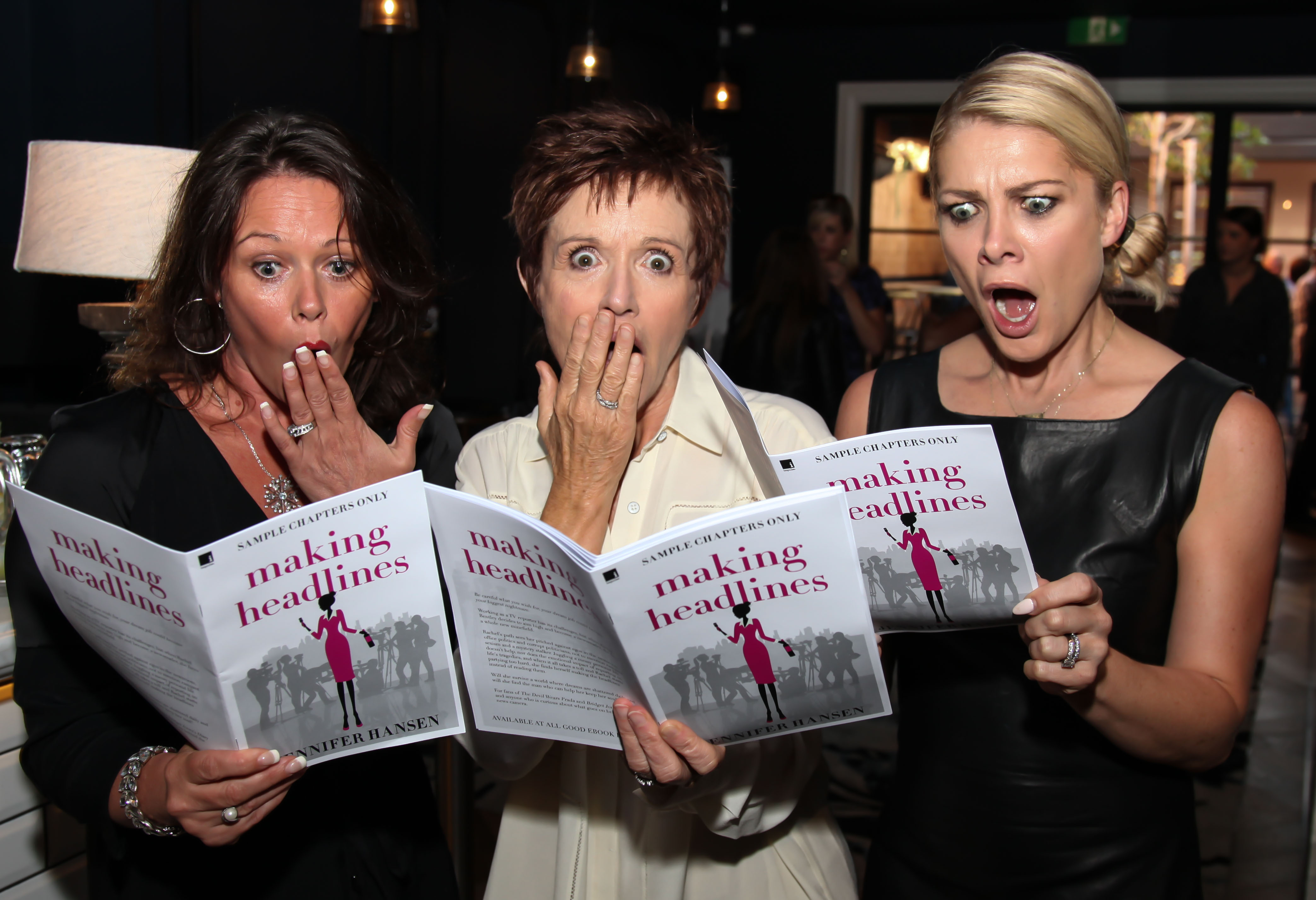 A shocking read! Gail Easdale, Jackie Woodburne and Natalie Bassingthwaighte