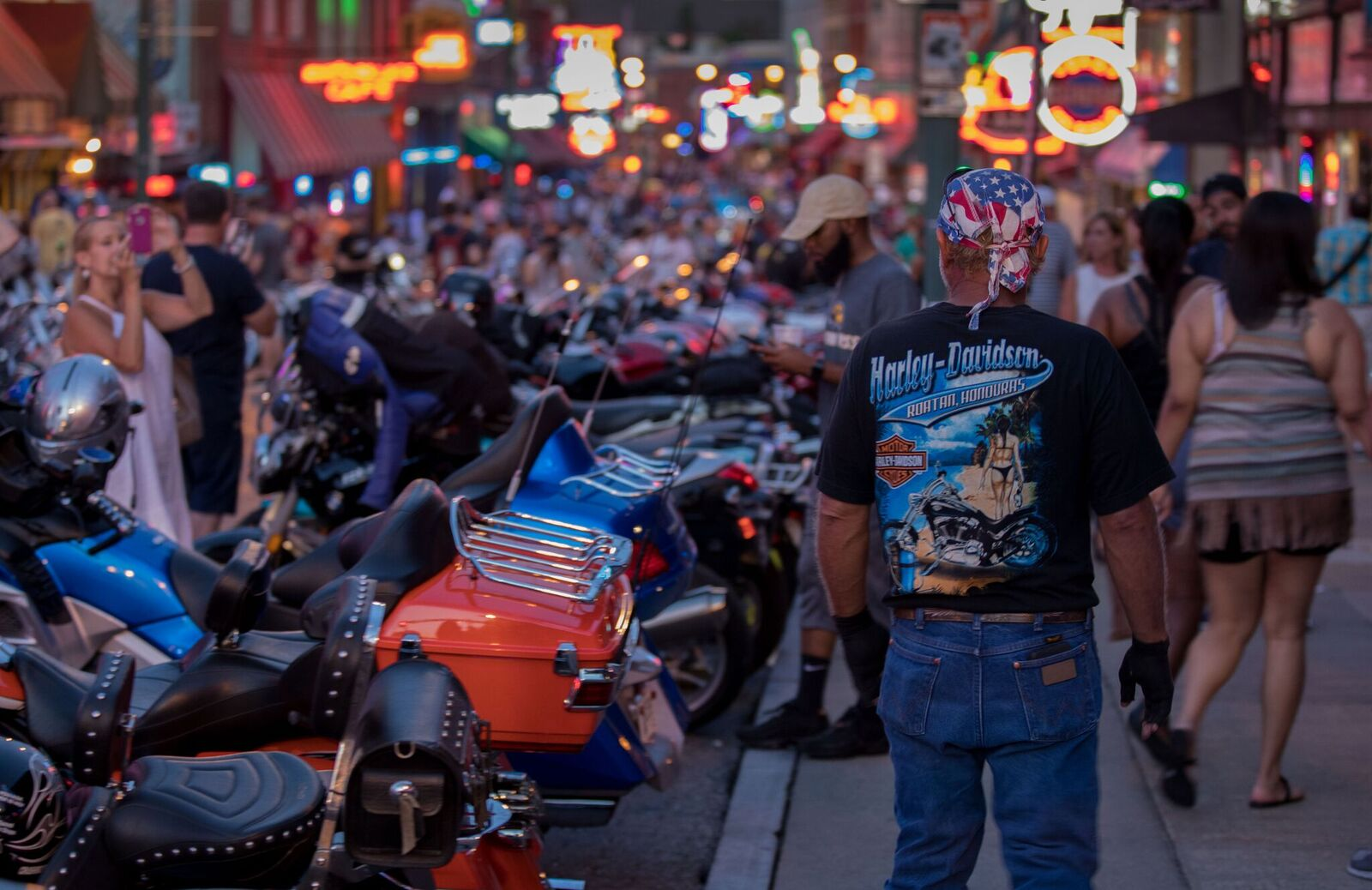 Bikies on Beale Street