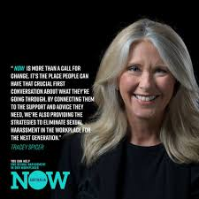 Tracey Spicer has launched the NOW Australia campaign